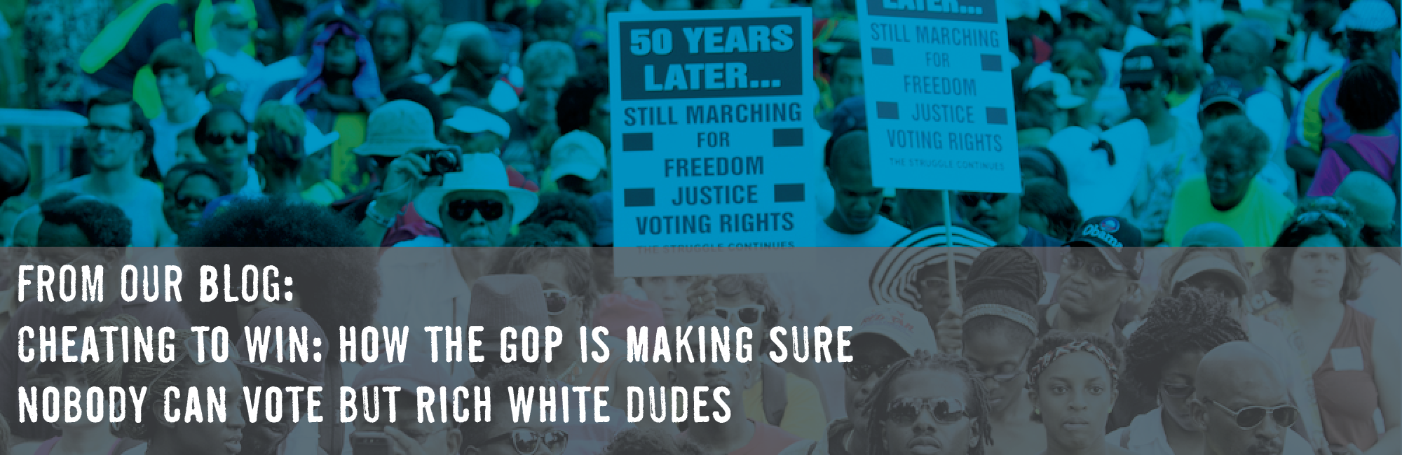 Cheating to Win? How the GOP is making sure nobody can vote but rich white dudes.
